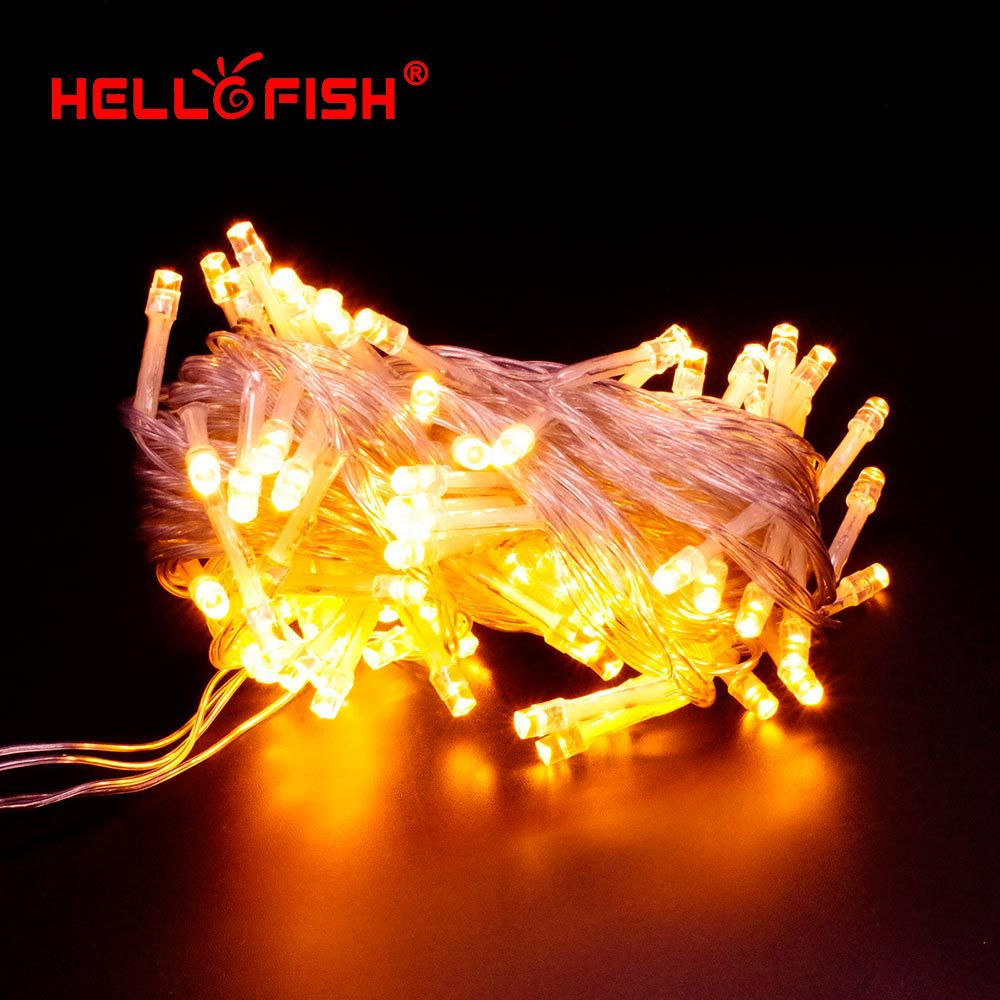 Hello fish 2015 new christmas light ac110v 220v 10m 100 for Fish string lights