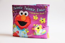 Baby first book infants educational cognitive learning toy street Twinkle elmo good night stereo cloth book Bedtime book(China (Mainland))
