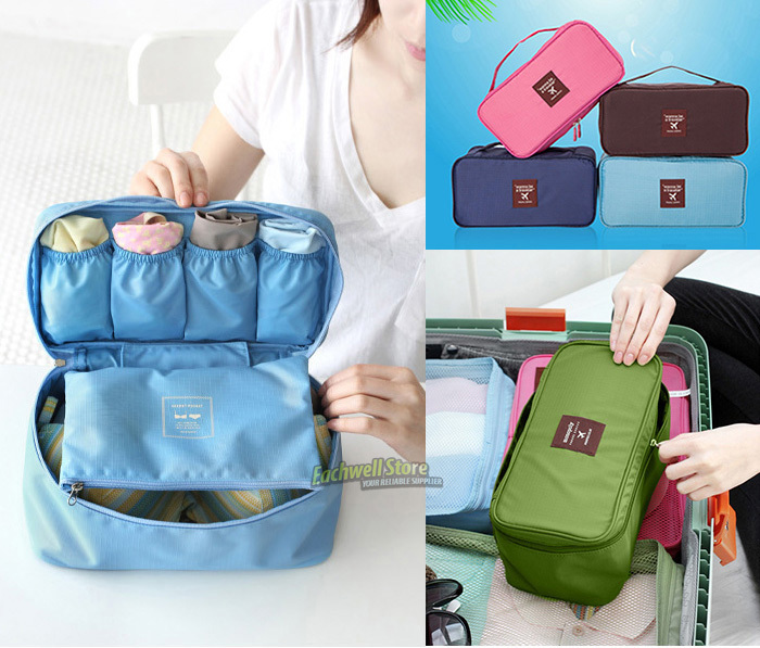 Bra Underwear Lingerie Travel Bag for Women Organizer Trip Handbag Luggage Traveling Bag Pouch Case Suitcase Space Saver Bags(China (Mainland))