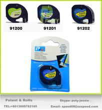 2PK compatible Dymo Letra Tag LT 91202 PLASTIC BLUE12MM x 4M LABELS Tapes