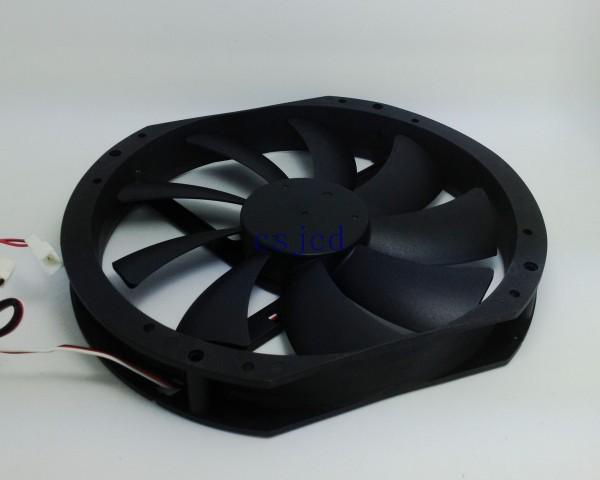 Ultralarge 23cm cooler master computer case fan quieten black tornado(China (Mainland))