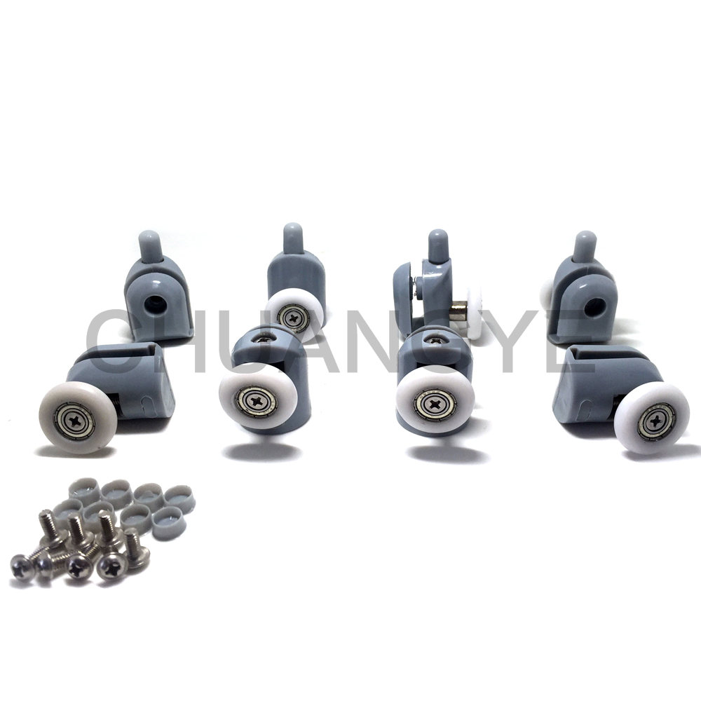 Set of 8 Single Shower Door Rollers / Runners / Wheels / Pulleys wheel 25mm Diameter Replacement Parts(China (Mainland))