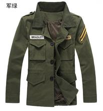 2015 Men's new fall clothing cotton frock coat jacket military uniform men's Autumn And Winter coat Slim BK11001013(China (Mainland))