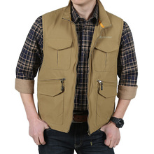 2016 New Men's Mesh Vest With Many Pockets Vests Plus Size M-3XL Military Outdoor Travel Vest Sleeveless Jackets Reporter Vests(China (Mainland))