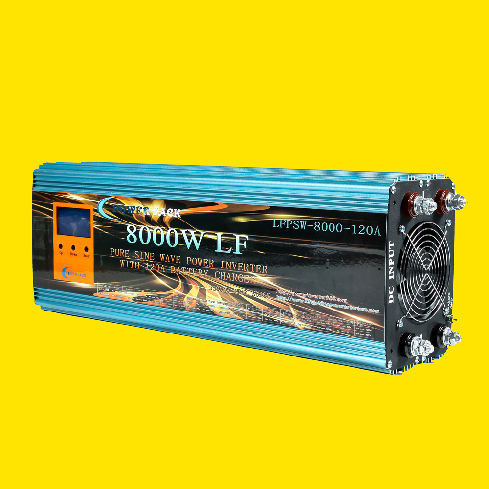 8000W PURE SINE WAVE POWER INVERTER DC 12V TO AC 110V 60Hz / 120A BATTERY CHARGER/ LCD METER/ UPS/ Converter Adapter Adaptor(China (Mainland))