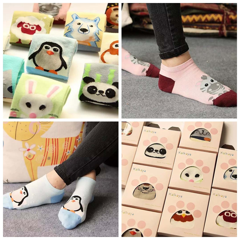 Cute cartoon women girl lady female socks slippers straight design fashion 2015 cotton - Feet-Show store