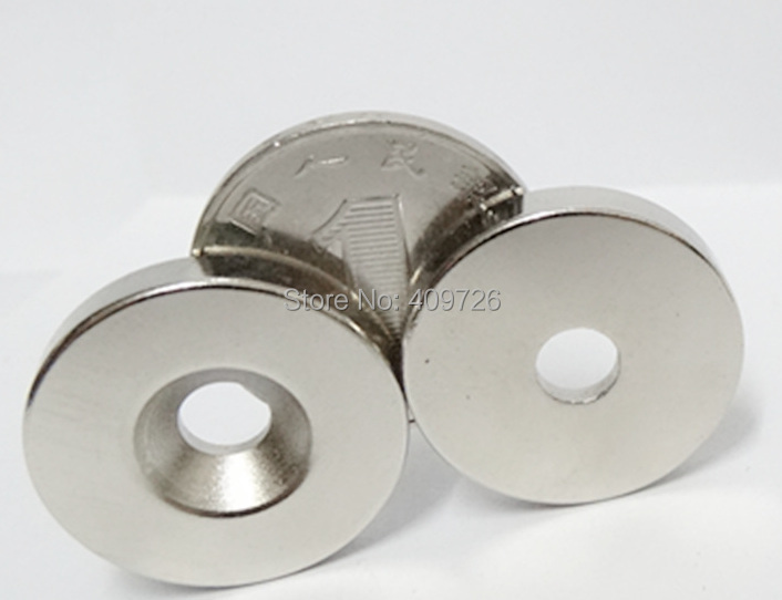 5pcs Super Powerful Strong Round NdFeB Neodymium Disc Magnets Dia 25mm x 5mm with hole 6mm N38 Rare Earth NdFeB Magnet(China (Mainland))