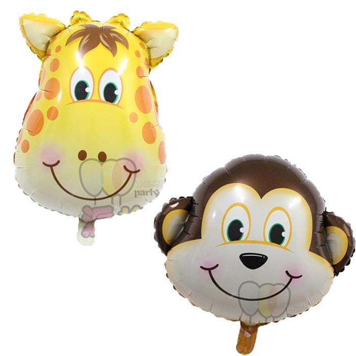 10pcs/lot Giraffe monkey balloon deer head air ball wedding Birthday party supplies animal shape balloon kids classic toys(China (Mainland))