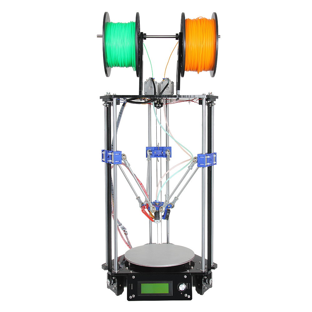 Geeetech Auto Level New Upgraded Dual Extruder Delta Rostock Mini G2 3D Printer Kits Support 4