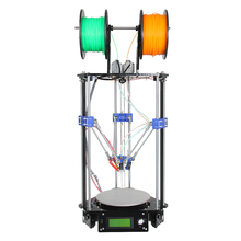 Geeetech Auto Level New Upgraded Dual Extruder Delta Rostock Mini G2 3D Printer Kits Support 4 Materials LCD2004 Free