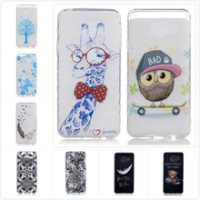 Cartoon Transparent Soft TPU Silicon Phone Case for Samsung Galaxy A3 2016 A310 A310F A3100 Owl Bear Butterfly Floral Back Cover