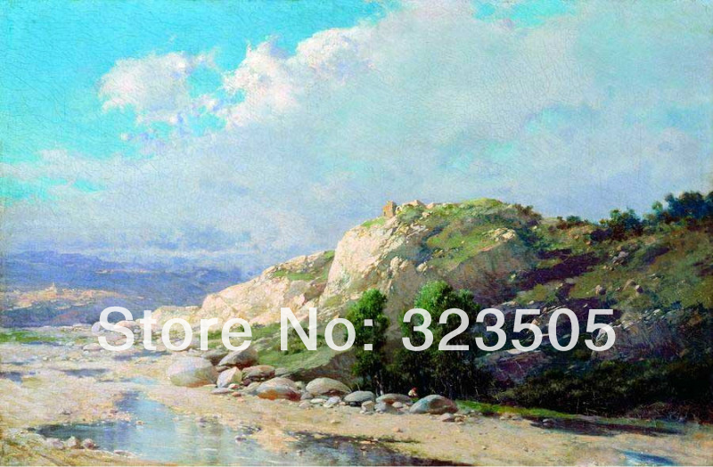 Impressional canvas wall art blue seascape picture handmade oil painting on canvas for home decoration bedroom living room deco(China (Mainland))