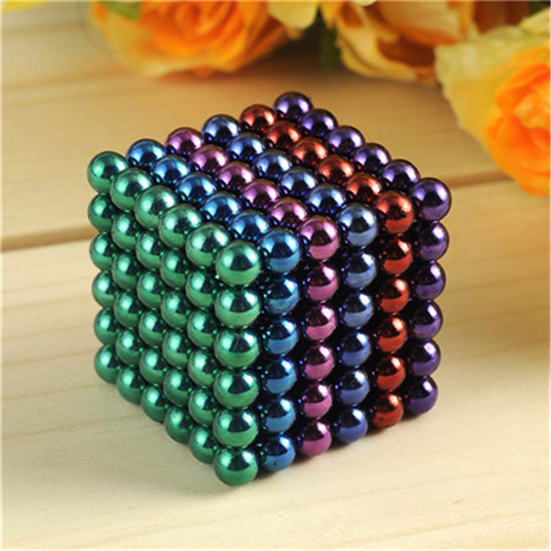 5mm 216pcs Metaballs Magnetic Balls Magnet Puzzle Block Neo Cube Magic Toys Magic Cube +Metal colour Box+Card For Christmas gift(China (Mainland))