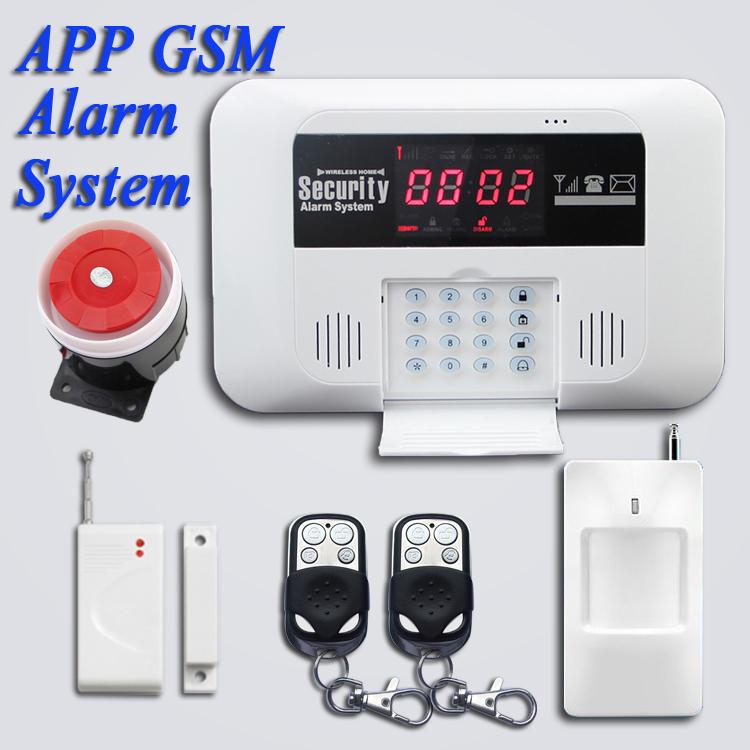 Free Shipping.850/900/1800/1900MHz android APP intercom 433mhz wireless Door Gap Sensor GSM SMS Home Intelligent Alarm System(China (Mainland))
