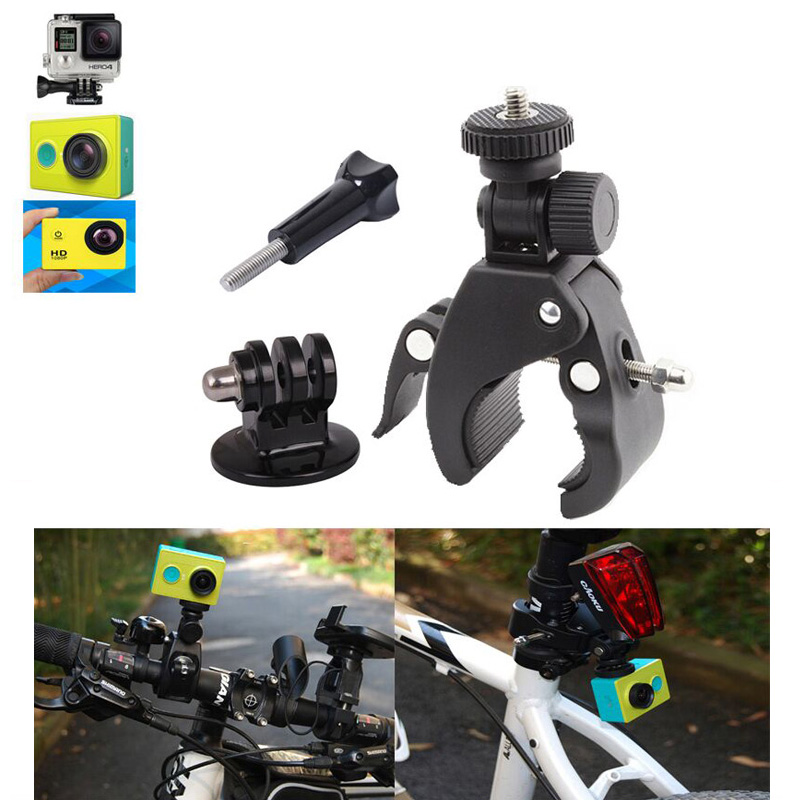 For Go pro Motorcycle Bike Bicycle For Go Pro Handlebar Holder For Gopro Camera HD Hero3 Hero2 Hero Mount + Tripod + Screw &amp; Nut<br><br>Aliexpress