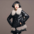 Winter Leather Jackets Women Genuine Sheep Leather Coat With Fox Fur Trims Warm Winter Sheepskin Coats