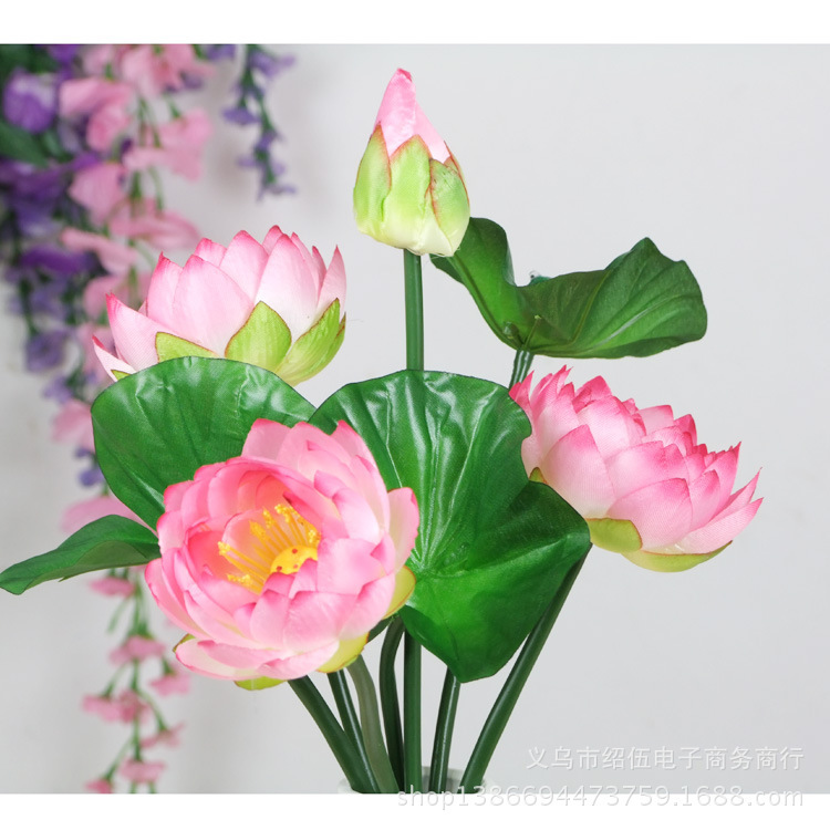 Wedding Decorations 7 The Bundle Sleeping Temple Decorated Living Room Lotus Flower Silk Simulation Of High Imitation Of Chinese(China (Mainland))