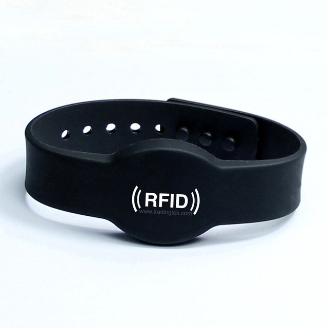 High quality waterproof silicone RFID wristband with TK4100 for Water park and swimming pool Free Shipping