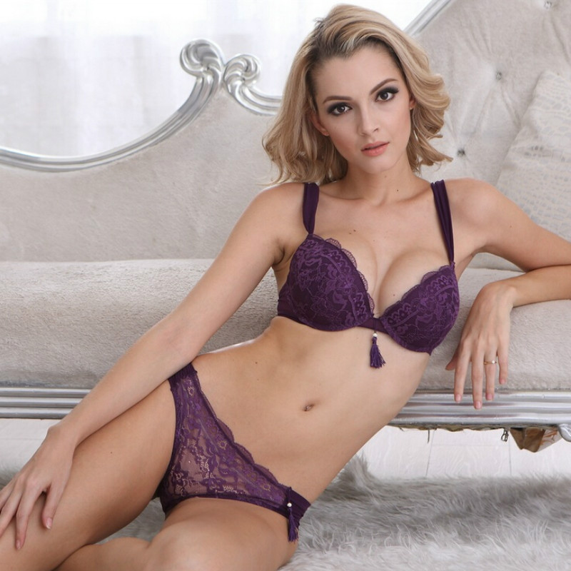 Popular Purple Lace Bra Set-Buy Cheap Purple Lace Bra Set lots ...