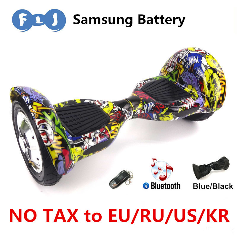 FLJ Self Balancing Scooter 10inch hoverboard Smart balance Samsung Battery Bluetooth Key 700W Skateboard stand up scooter ul2272(China (Mainland))