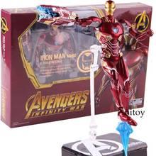 Figura do Homem De Ferro SHF MK50 & Tamashi Fase PVC Marvel Avengers Infinito Guerra Figura de Ação Homem De Ferro Mark 50 Collectible modelo de Brinquedo(China)