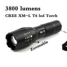 CREE XM-L T6 3800 Lumens Underwater lights  led Torch Zoomable cree LED Flashlight Torch light Waterproof Camping Flashlight(China (Mainland))