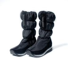 Rusia Popular Zapatos de Invierno de Las Mujeres Botas de Nieve Nuevo 2016 Marca Rhinestone Impermeable Mujer Botas de Piel de Felpa Interior para-50 Degree162(China (Mainland))
