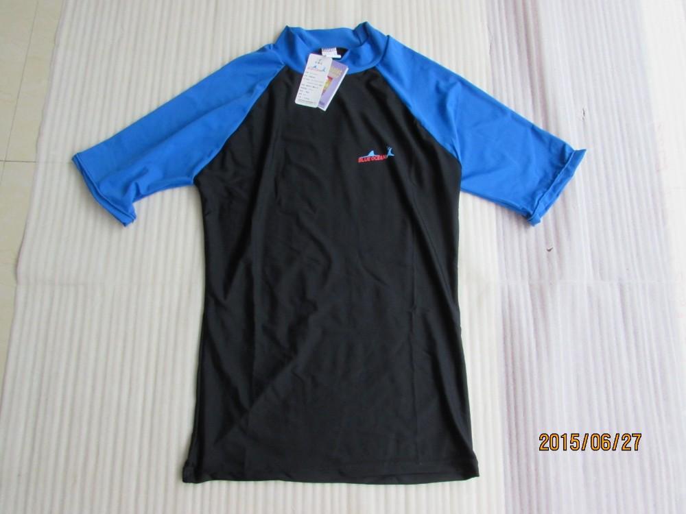 лайкра короткие опрометчивый upf50 + серфинг куртка Дайвинг плавание Подводное плавание верхнего тела интернат водный парк спортивная футболка