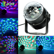 3W LED RGB DJ Club Disco Party Magic Ball Crystal Effect Light Stage Lighting (China (Mainland))