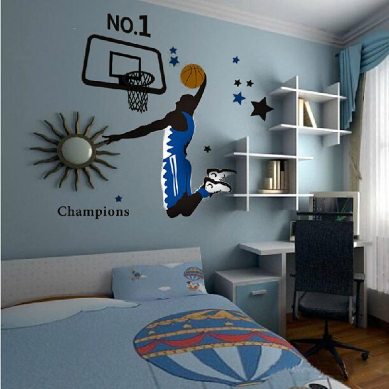 Online buy wholesale slam basketball from china slam for Basketball mural wallpaper