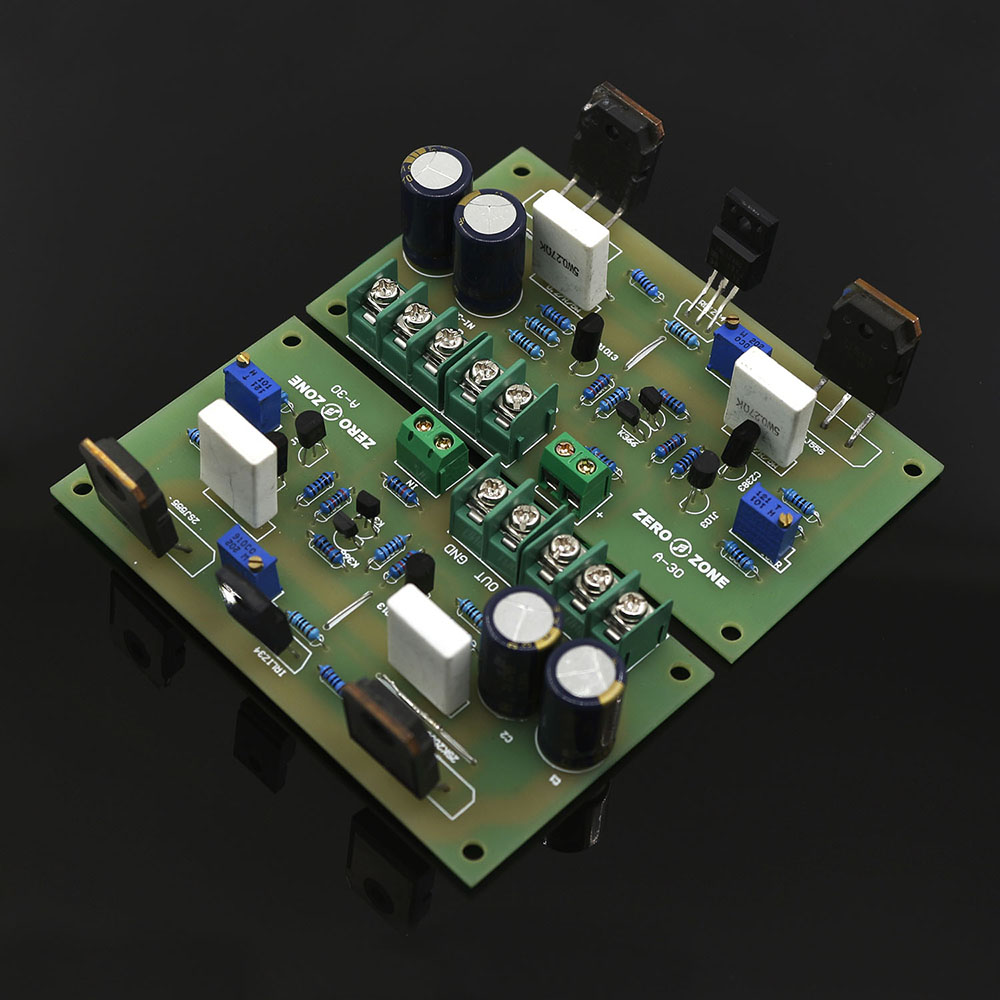 2 PCB Mono channel A-30 Pure Class A 30W+30W high-current FET amplifier board(China (Mainland))