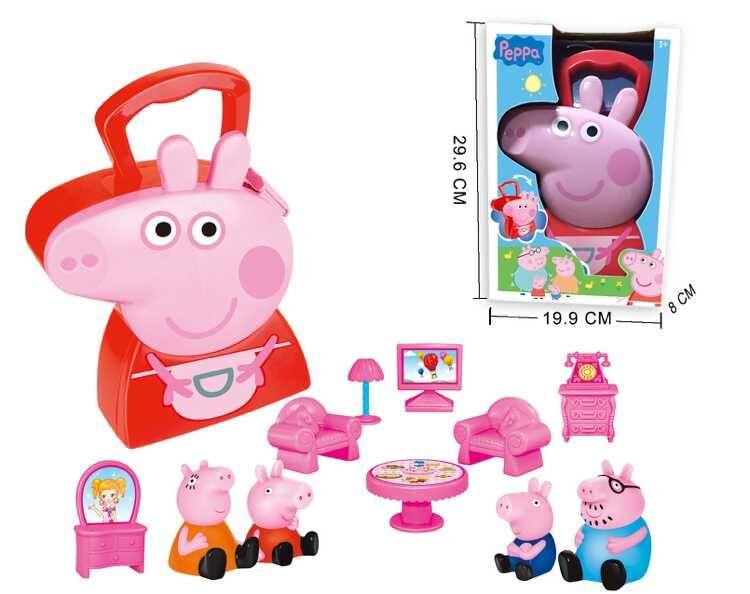 Гаджет  Hot Kids Toys for Children Action Figure Brinquedos, Cartoon Dolls PVC Figure Anime Plastic Juguetes Pepa Pig Play House Toys None Игрушки и Хобби