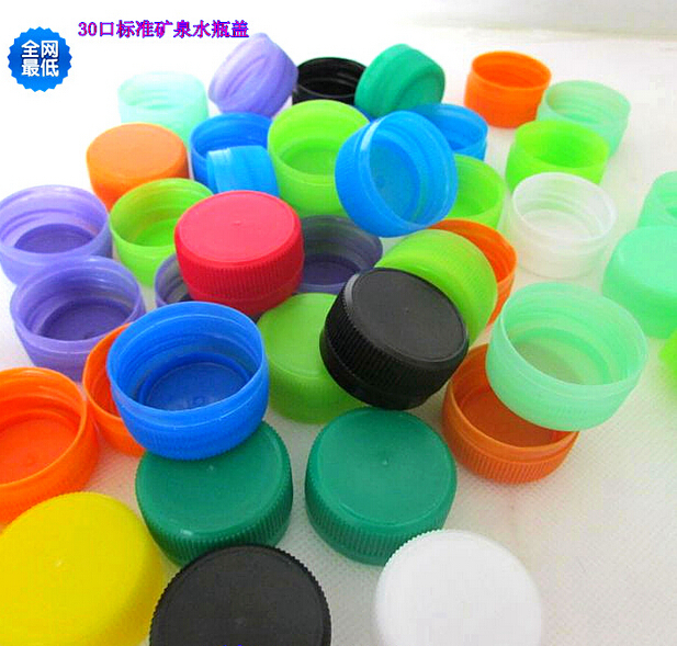 1000pcs 30mm mouth plastic caps caliber mineral water bottle decorative design handmade nursery color puzzle mineral water cap(China (Mainland))