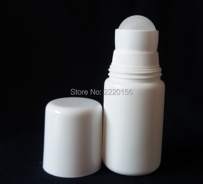 Free shipping 200pcs/lot New Arrival 50ml Plastic Roll On Bottle, 50cc deodorant roll on container.50ML Roll On Bottle(China (Mainland))