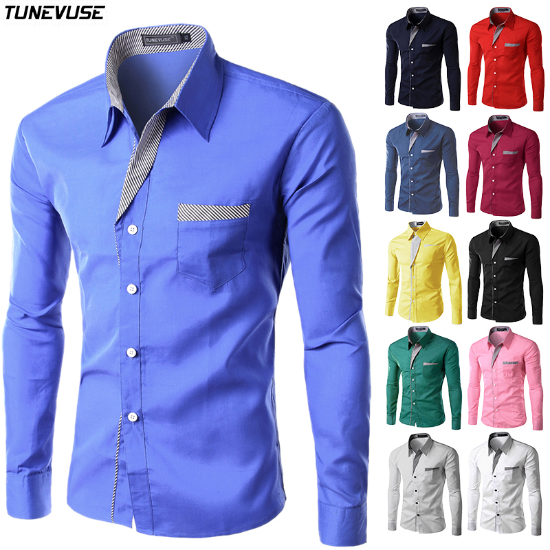 Brand New Mens Formal Business Shirts Casual Slim Long Sleeve Dresse Camisa Masculina Asian Size M-4XL 8012 - Chinese factory 324260 Store store