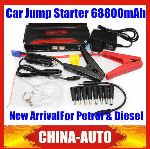 2015 High Quality High Capacity 68800mAh Car Jump Starter Emergency Charger with Plastic Carry Case for Petrol & Diesel Car(China (Mainland))