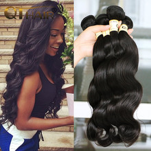 QT Ms Lula Hair Products Brazilian Virgin Hair Body Wave Bundles 3Pcs Lot 6A Cheap Unprocessed Human Hair Weaves Natural Black