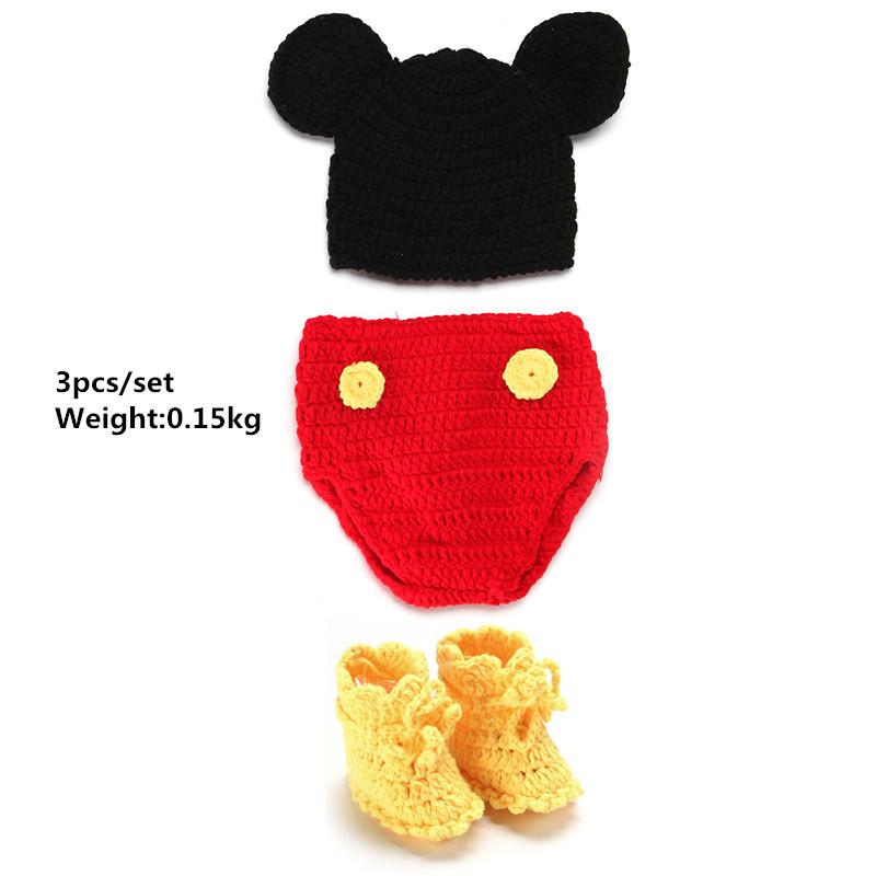 Handmade Newborn Crochet Outfits Knitted Beanies Costumes Set 0-12 months Newborn Photography Props Baby accessories fotografia(China (Mainland))