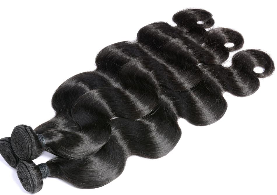 Iwish Hair Brazilian Virgin Hair Body Wave 100% Human Hair Unprocessed Hair Weave Bundles 12-24 inch Natural Color 1 piece
