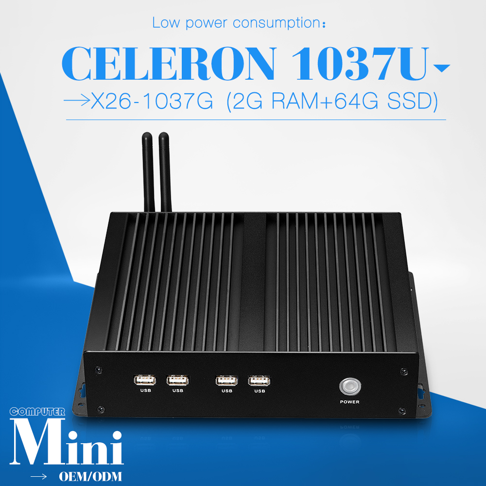 hot selling thin client Cheap mini desktop pc C1037U smallest computer mini thin client mini desktop(China (Mainland))