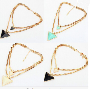 2016 Fashion Statement Necklace Women Gold Triangle Choker Necklaces & Pendants Collier Femme Collares Jewelry 229 - XY Company (Min order $8 store)