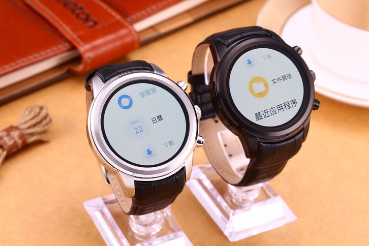Smart android 4.4 x 5 watch mobile phones Circular screen leather strap stainless steel shell All the compatible bluetooth watch(China (Mainland))