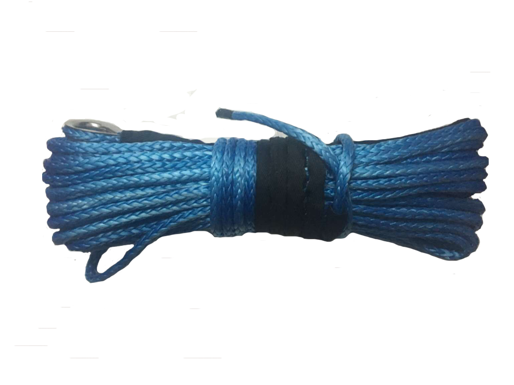 10MM 30M 12 Strand UHMWPE Synthetic 4X4 ATV Winch Rope with thimble free shipping(China (Mainland))