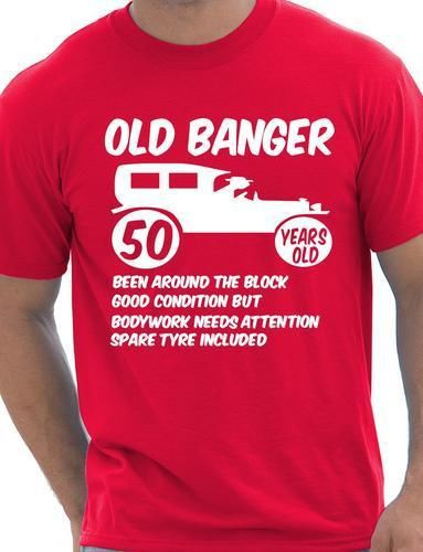 50th Fifty Mens Funny Age 50 Birthday T-Shirt Old Banger! More Size and Colors(China (Mainland))