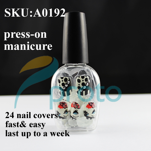 NEW Fashion 24 Nails Full Covers Press-On Manicure Fast and Easy Salon Manicure Nail Art Dots Dropshipping [Retail] SKU:A0192