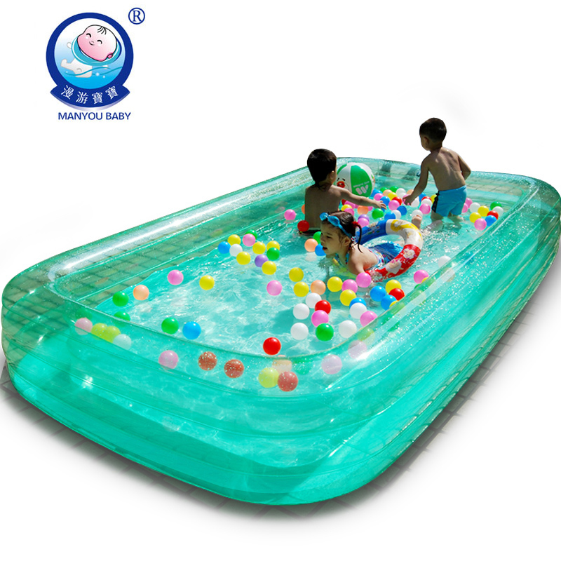 Super grande piscine b b paississant piscine enfant for Piscine gonflable rectangulaire