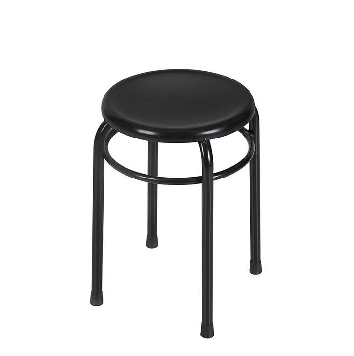 Set Of 6 Pieces Iron Metal Stool Snacks Train Queuing Shoes Chair Leisure Chair Modern Home Furniture Living Room Stainless(China (Mainland))