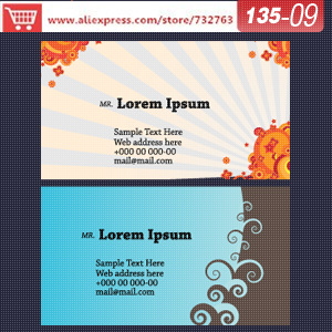 0135-09 business card template for printing paperbusiness card website business stationery(China (Mainland))