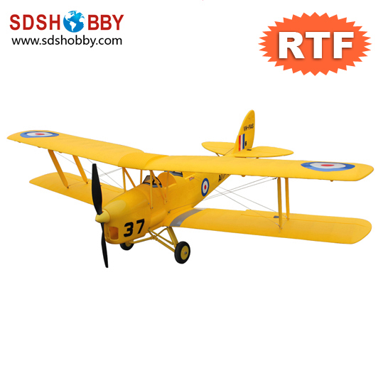 50in Tiger Moth Brushless Foam Electric Airplane RTF with 2.4G Radio Control and 25C 2200mAh Li-Po Battery(China (Mainland))