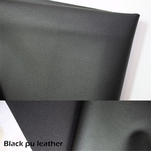 black pu leather fabric with lichee pattern thick heavy high quality for home wall indoor decorative fabric meter price(China (Mainland))